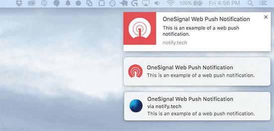 Push notification on desktop