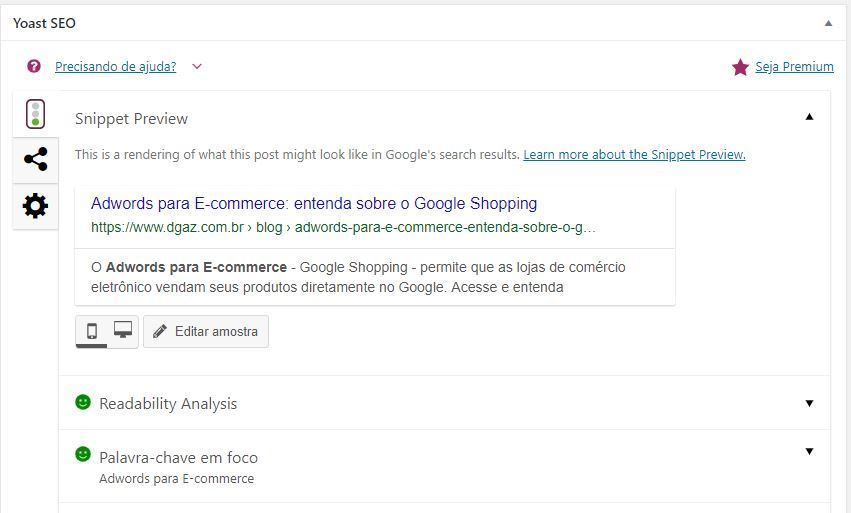 exemplo do template do yoast na plataforma wordpress