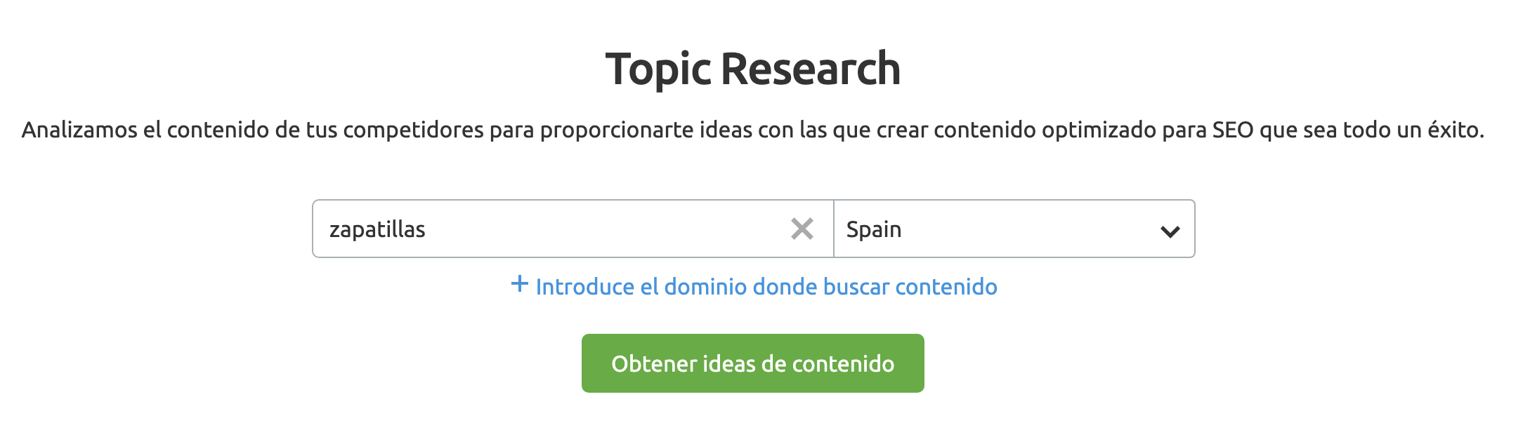 SEMrush Topic Research