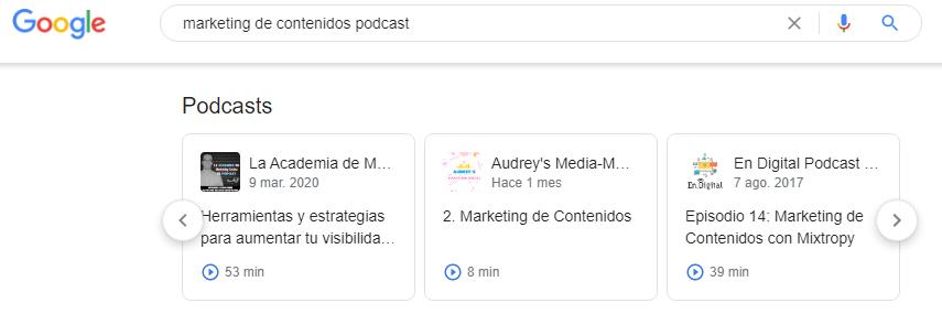 Qué es SEO - Podcasts ejemplo marketing de contenidos
