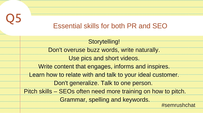 Essential skills for both PR and SEO