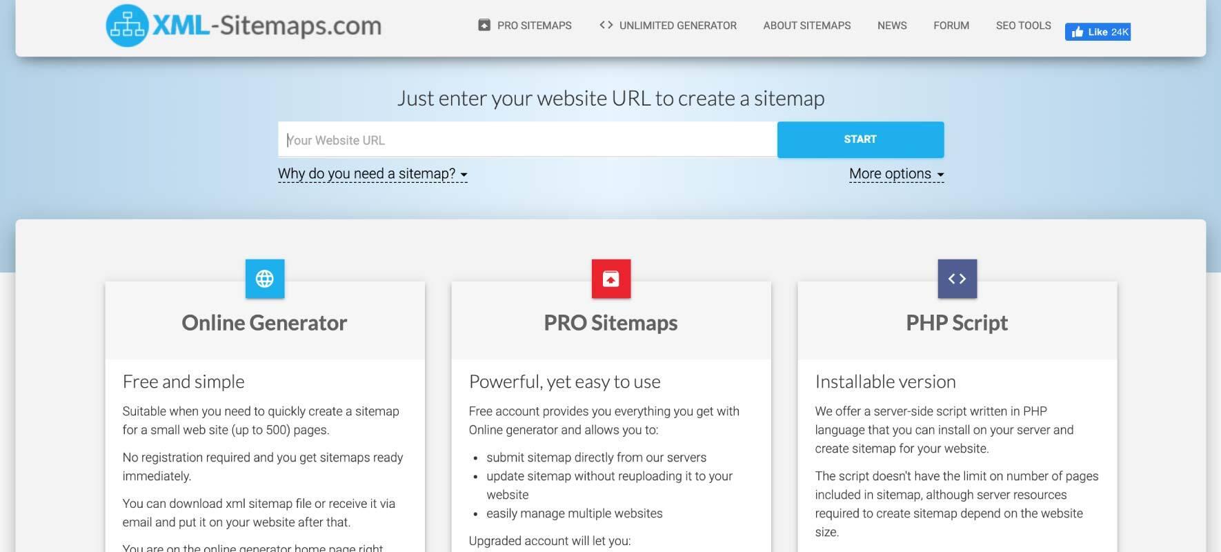 Best Sitemap Generator Tools XML-Sitemaps