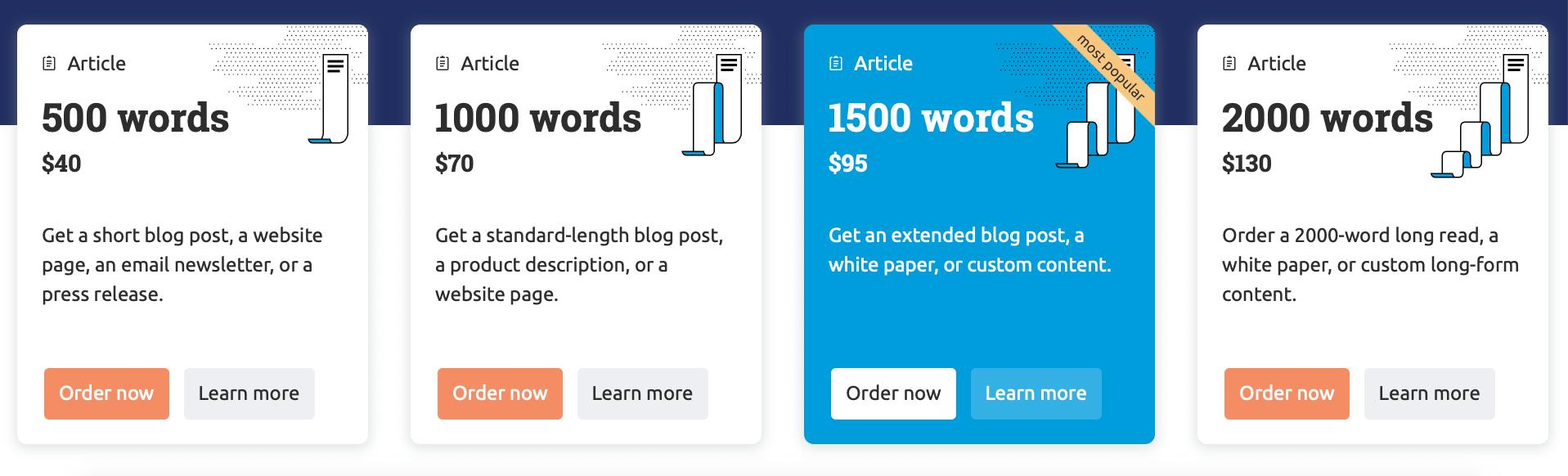 SEMrush Content Marketplace offers