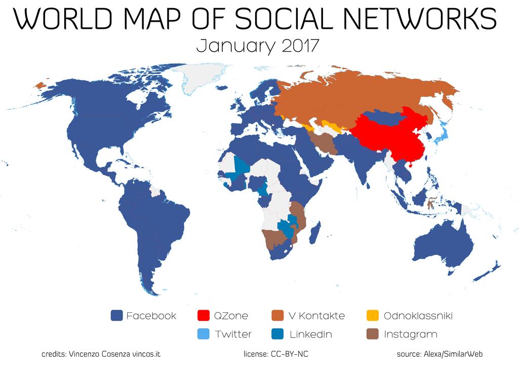 Estrategia de marketing de contenidos internacional - Mapa RRSS