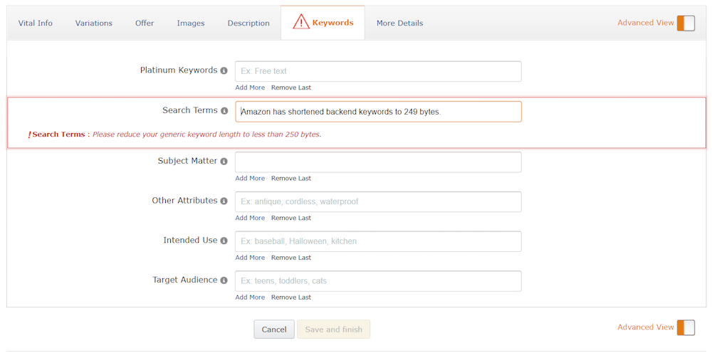 keyword research per ottimizzare scheda prodotto su amazon