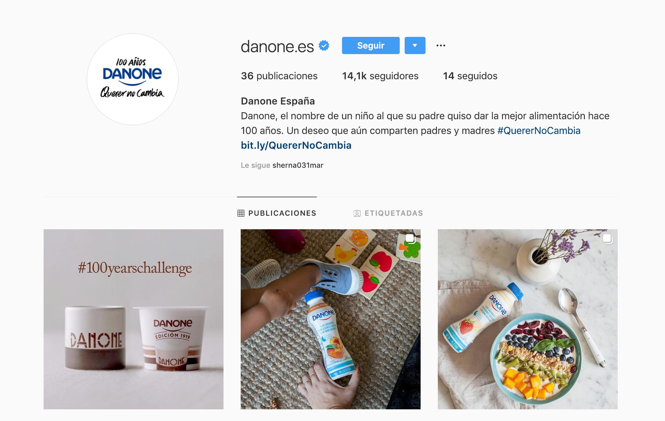 Bios para perfiles en redes sociales - Caso Danone