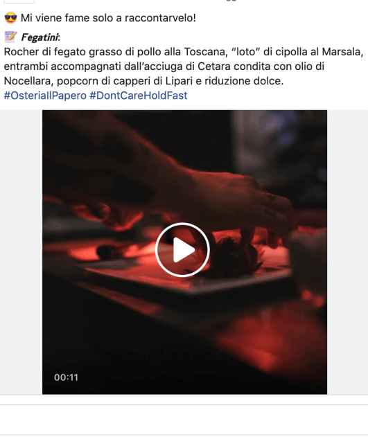 Video su post Facebbok