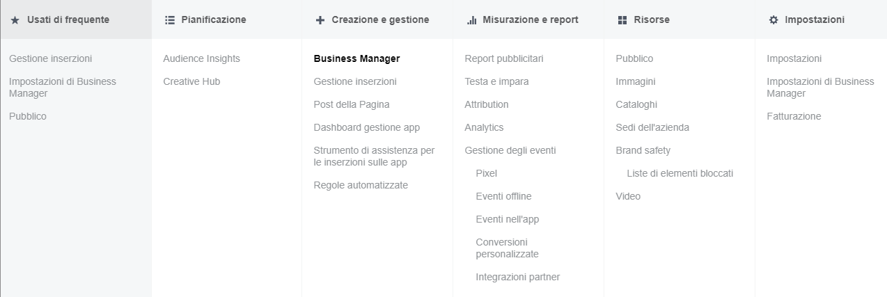 Come funziona Facebook Business Manager