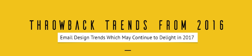 Throwback Trends from 2016