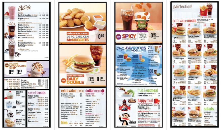 Página web - Oferta de comida rápida tradicional