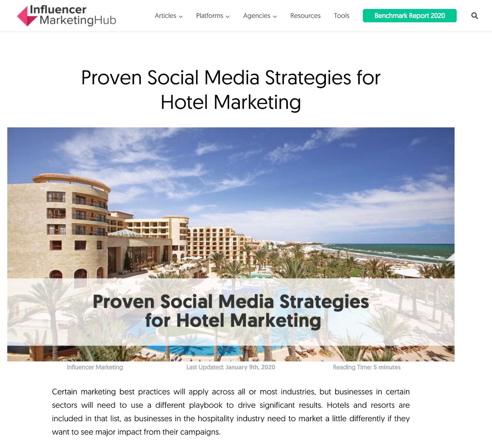 social media strategies for hotels