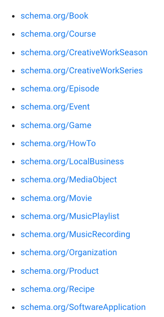 Review Schema Types