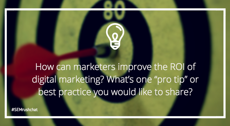 """Pro tips"" on improving digital marketing ROI"