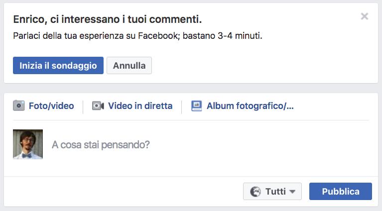I sondaggi di Facebook per testare la User Experience
