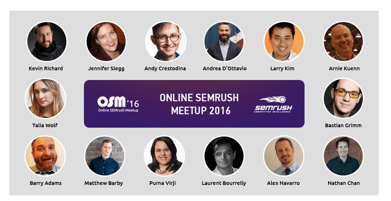 Online SEMrush Meetup: evento internazionale su Content Marketing