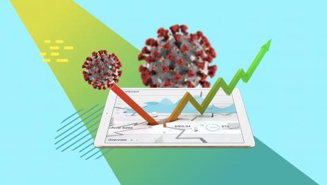 Visualização: Impacto Econômico do Coronavírus: quem ganhou e perdeu com o COVID-19 no mercado