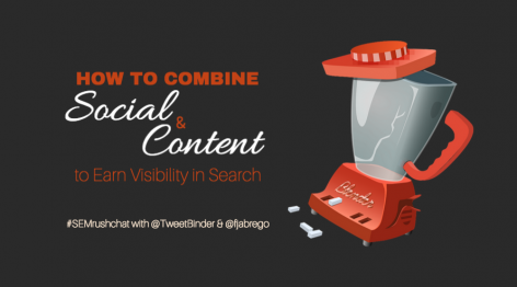 Preview: How to Combine Social and Content to Earn Visibility in Search #semrushchat