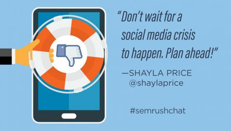 Preview: How to Handle Social Media in a Crisis #semrushchat