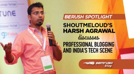 Preview: ShoutMeLoud's Harsh Agrawal Discusses Professional Blogging and India's Tech Scene