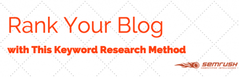 Preview: Rank Your Blog with This Keyword Research Method