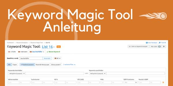 Keyword Recherche mit KMT - Anleitung zum Tool
