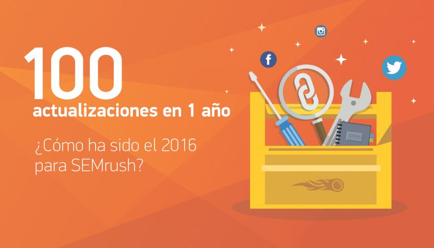 ¡Las 100 actualizaciones de SEMrush en 2016 y mucho más!