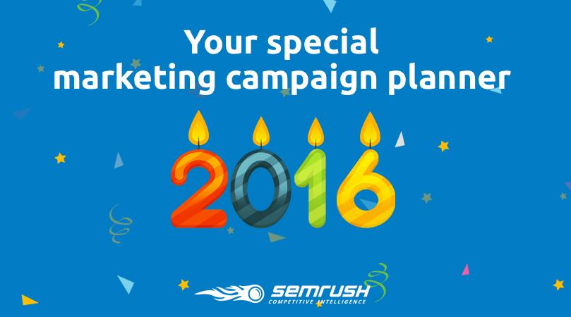 2016 Ultimate Seasonal Marketing Campaign Planner