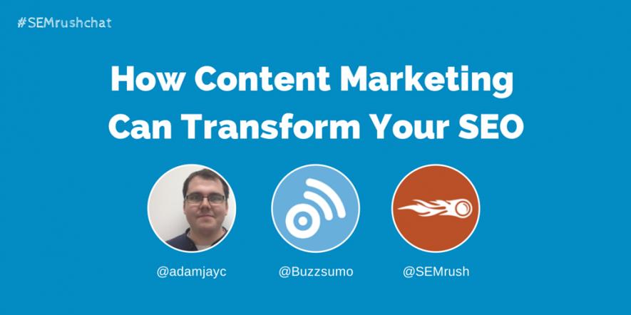 SEMrush Twitter Chat #2: Content Marketing