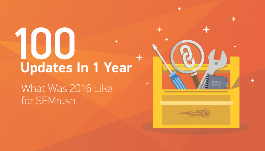 100 Updates in 1 Year: What Was 2016 Like for SEMrush