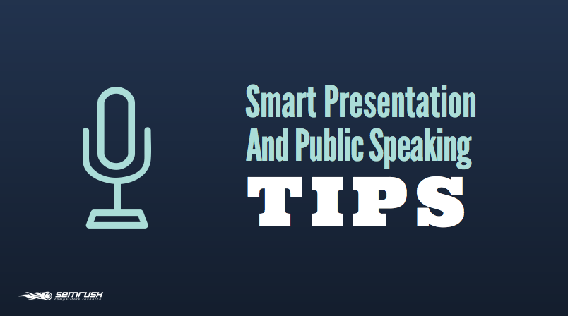 Smart Presentation and Public Speaking Tips