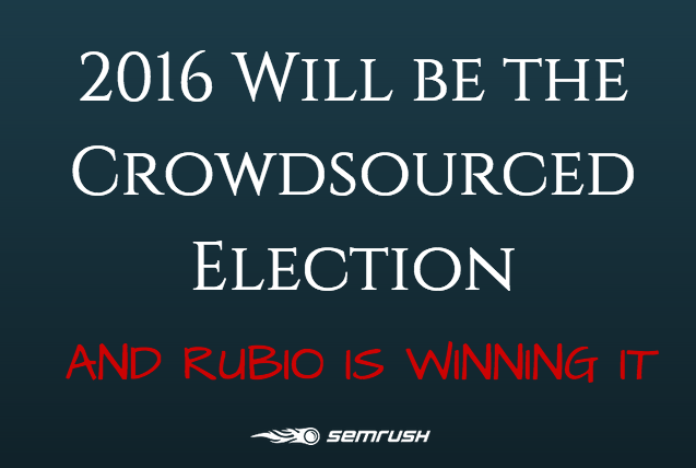 2016 Will be the Crowdsourced Election and Rubio is Winning It