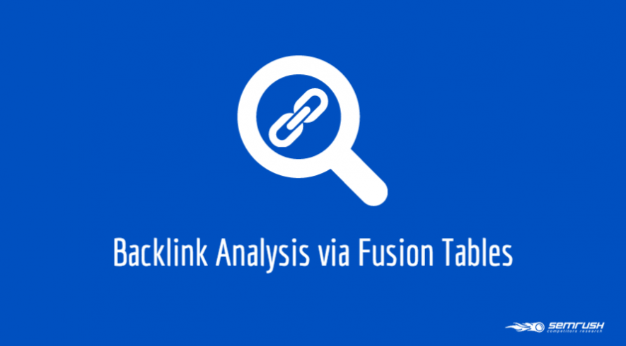 Backlink Analysis via Fusion Tables