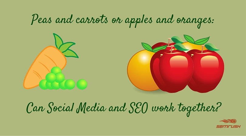 Peas and Carrots or Apples and Oranges: Can Social Media and SEO Work Together?
