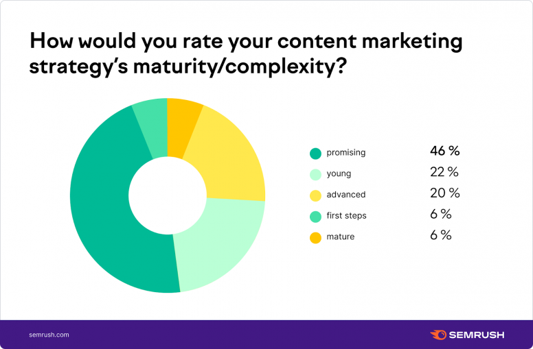 How would you rate your content marketing strategy's maturity?