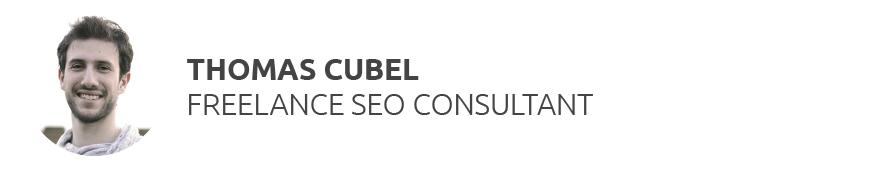 Thomas Cubel Freelance SEO consultant