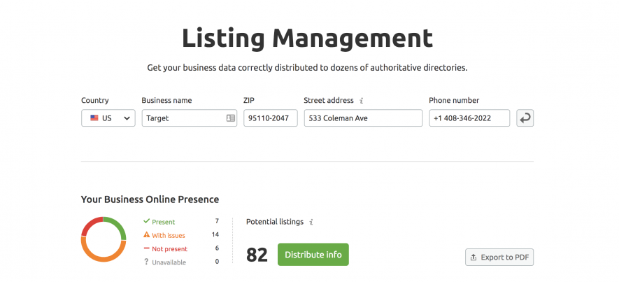 Citation listing management tool stats
