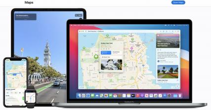 苹果网站地图截图