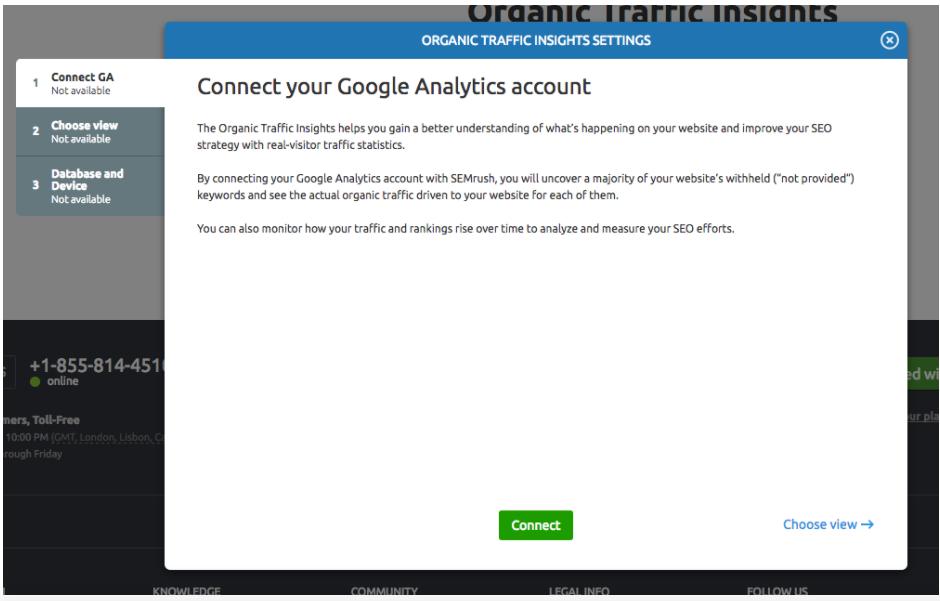 Configuring Organic Traffic Insights image 2