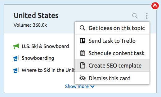Create SEO Content Template