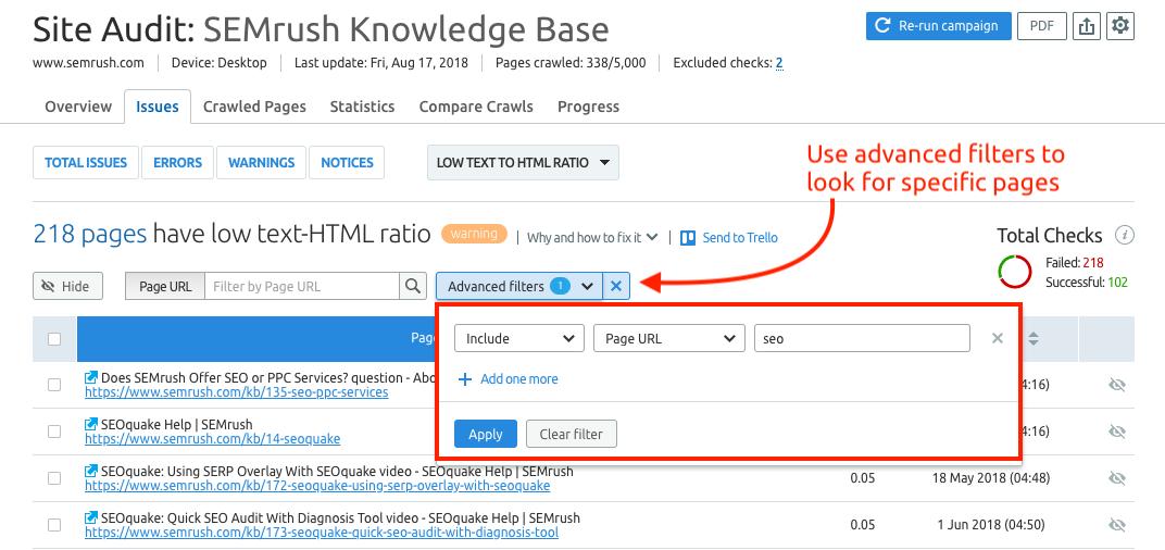 advanced-filter-semrush-site-audit