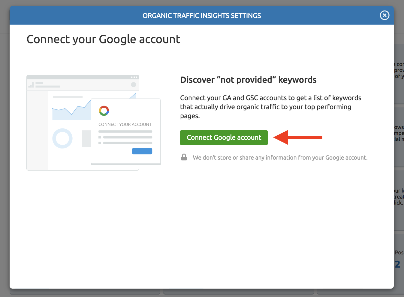 Connecting Organic Traffic Insights with Your Google Accounts image 2