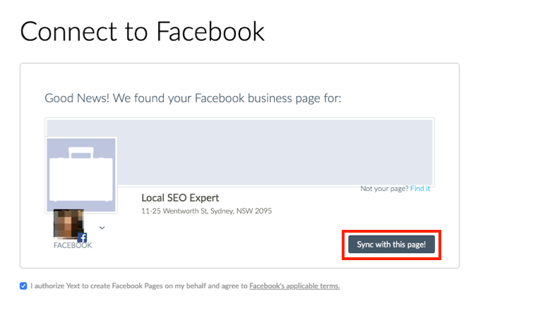 Connecting Facebook and Google My Business to Listing Management image 4