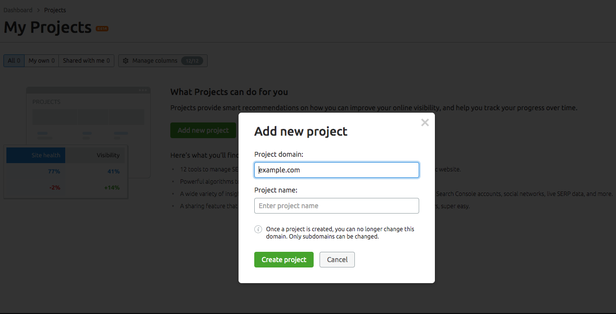 How to Set up Multiple Projects to manage an International Website image 1