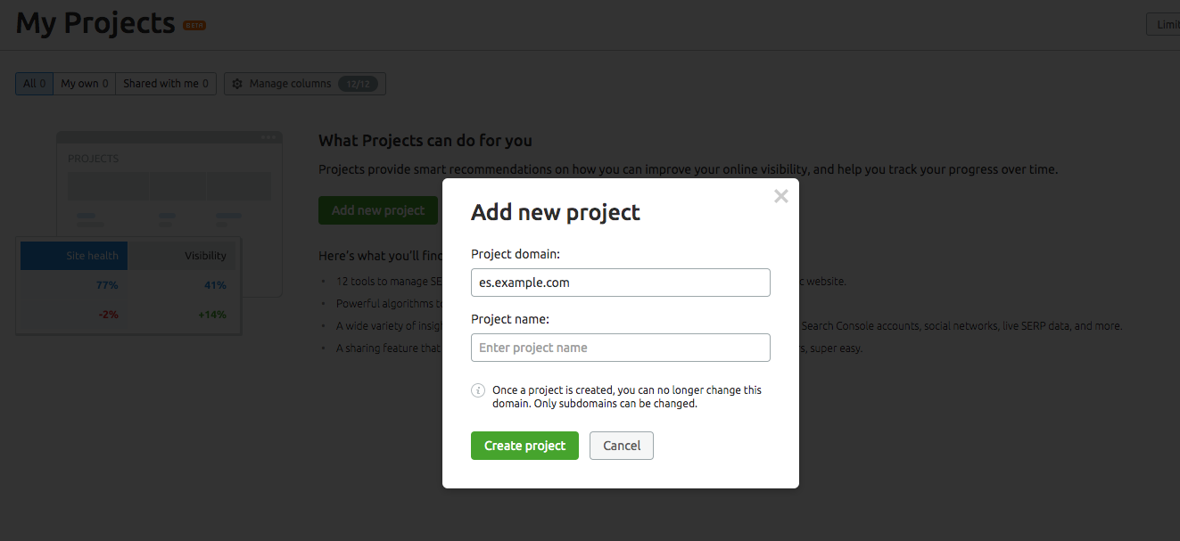 How to Set up Multiple Projects to manage an International Website image 2