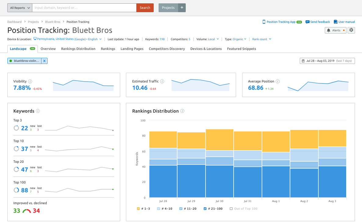 Using Semrush to Check Online Visibility image 4