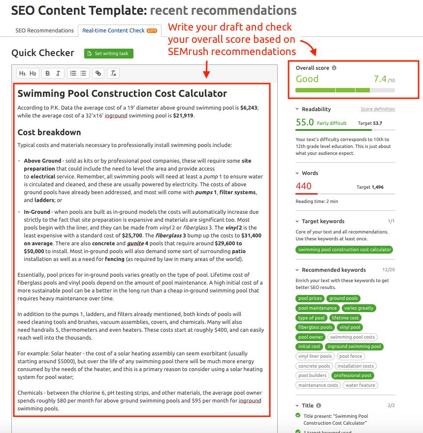ターゲットキーワードに対するウェブサイトの最適化 image 5