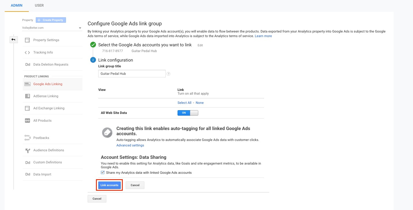 How to Connect Your Google Ads to Your Google Analytics image 3