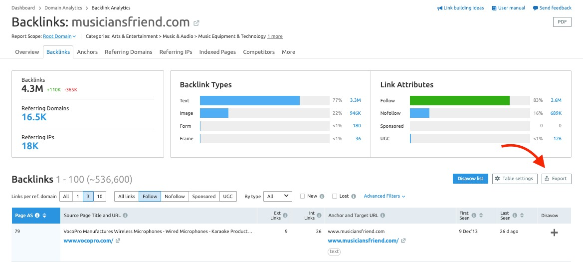 Backlinks Report image 5