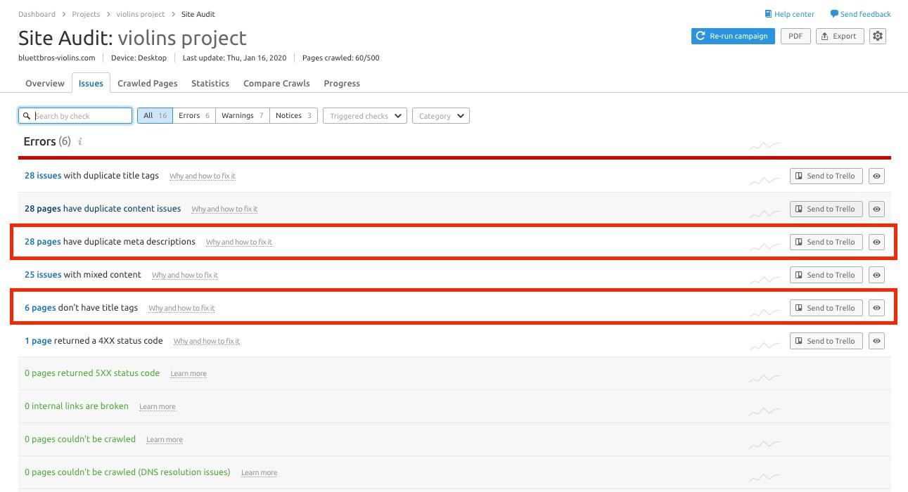Optimizing Page Title and Meta Description via Semrush image 2