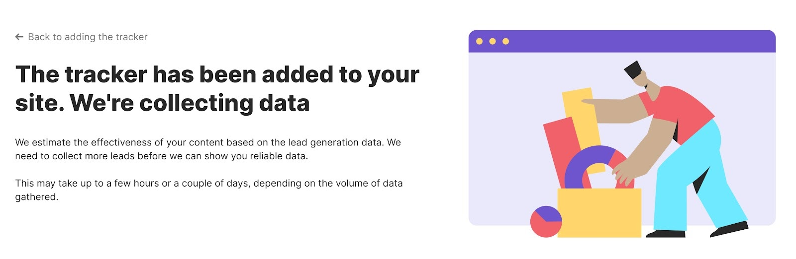 Start of data collection in ImpactHere